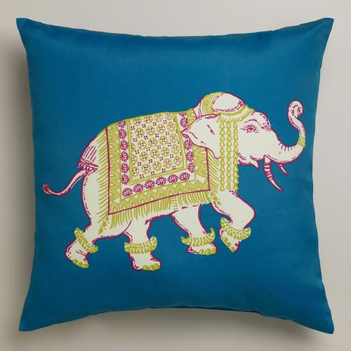 One of my favorite discoveries at WorldMarket.com: Elephant Outdoor Throw Pillow
