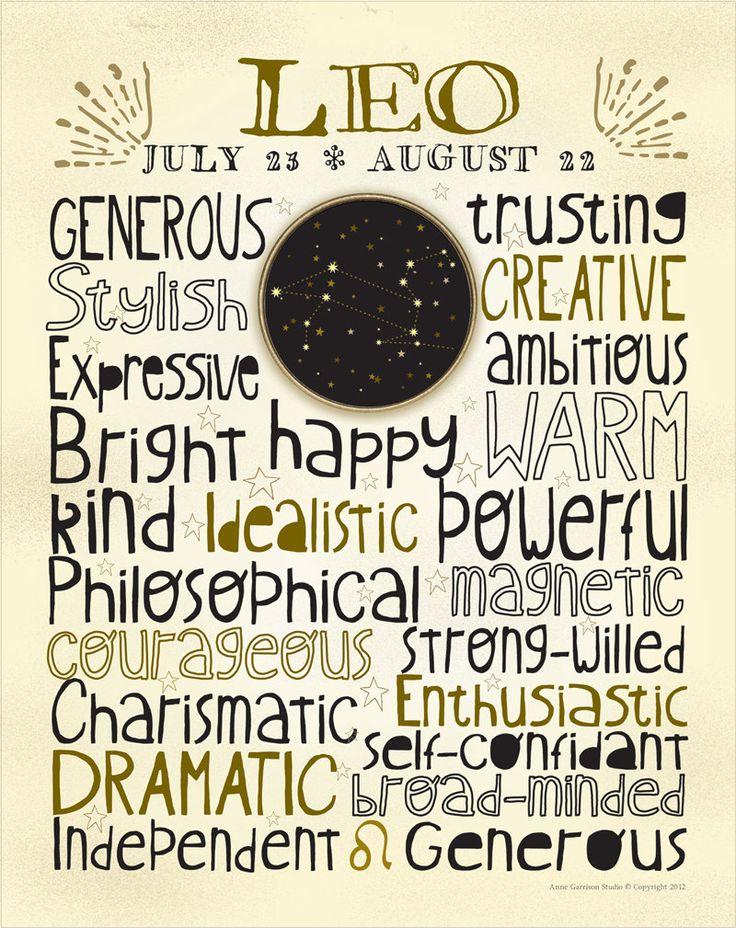 Zodiac - Leo - 16x20 Poster Art Print. $23.00, via Etsy.