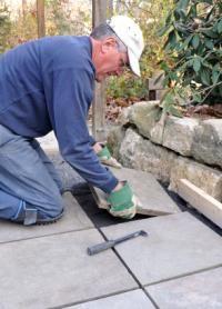 installing slate walkway