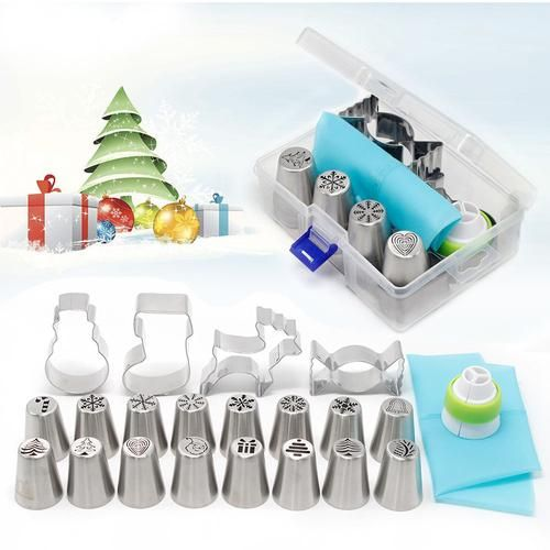 Icing Nozzle Set 20PCS for Christmas