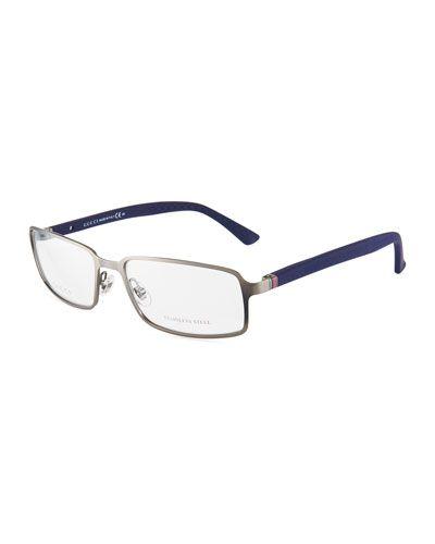 0174c2eb987 Men s Rectangle Metal Optical Glasses