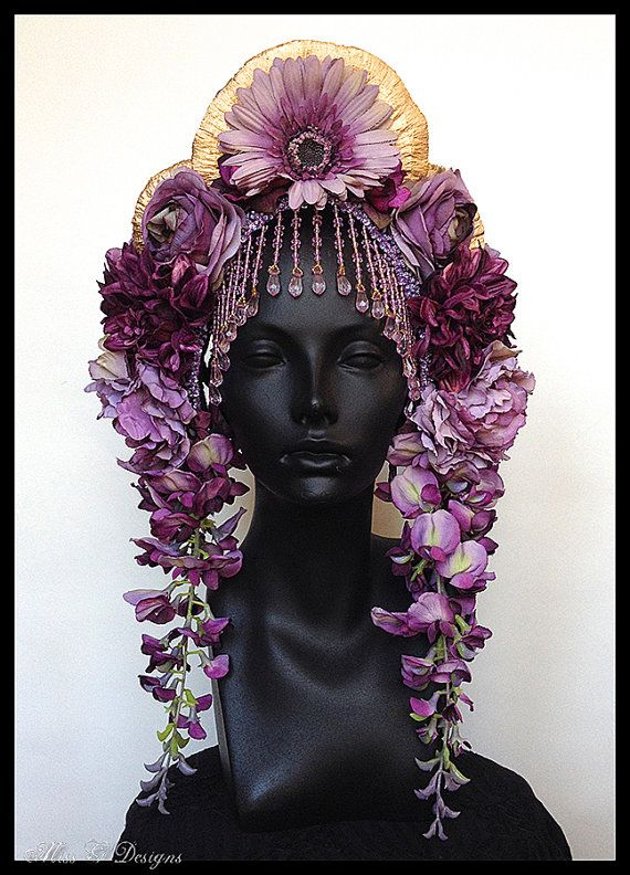 MADE TO ORDER Lavender & Amethyst Flower by MissGDesignsShop, $325.00