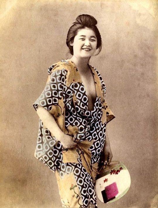 """""""Smiling geisha"""" in erotic dress"""