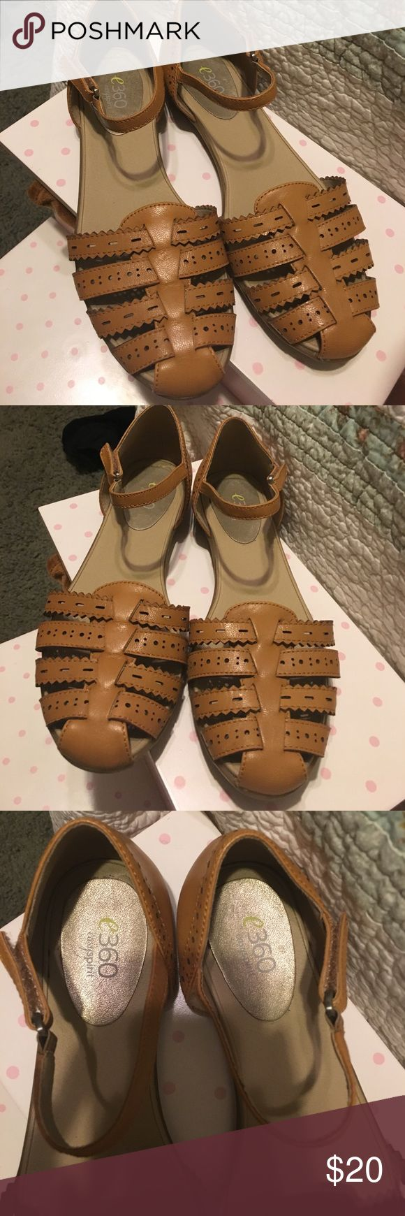 Easy spirit sandals These are brown easy spirit sandals with an ankle strap. The design is cute and they are very comfortable have some sort of cushion to the heel . Worn once Easy Spirit Shoes Sandals