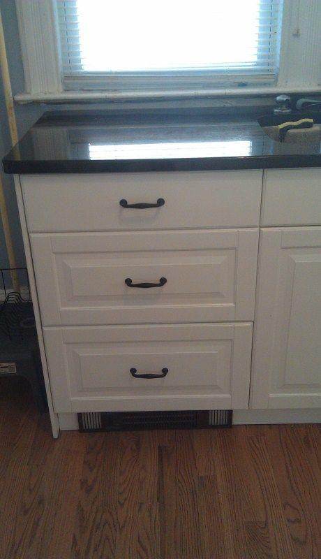 toekick radiator under cabinet drawers  Kitchen  Under