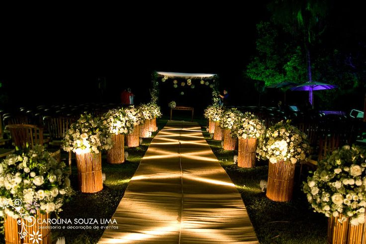 Decoração para Cerimonias de Casamento ao ar livre – fora da igreja !