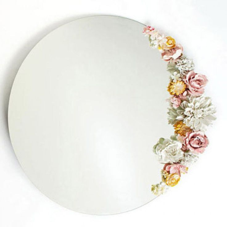 Jazz up a plain mirror with an artistic array of plaster blossoms. - FamilyCircle.com