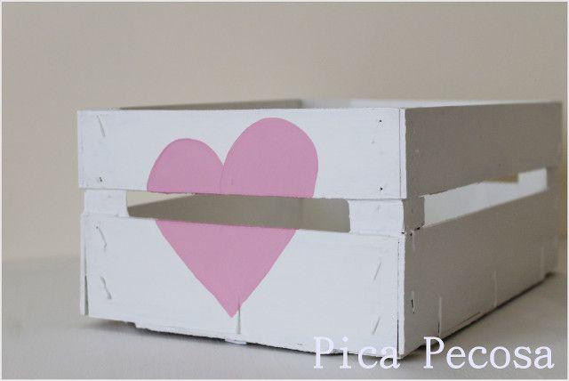 Handbox | Craft Lovers » Comunidad DIY: tutoriales y kits para todosCaja de fruta reciclada con chalk paint » Handbox | Craft Lovers