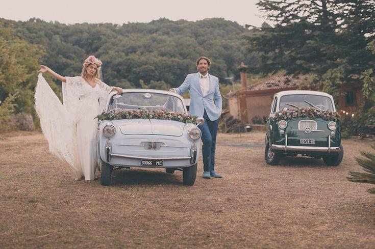 Hochzeit Auto Dekoration – 55 romantische Dekor-Ideen