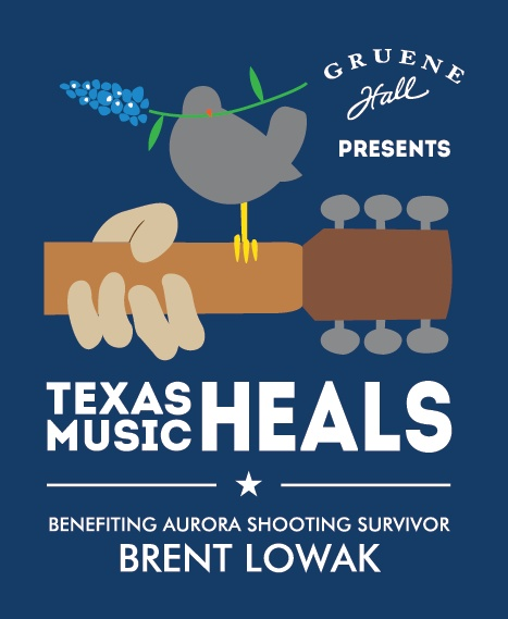 Texas Music HEALS: Benefiting Aurora Shooting Survivor Brent Lowak. Sunday, October 21, 2012 with Wade Bowen & Bleu Edmondson (Acoustic) AND MORE!! $30 Advanced tickets go on sale today at 5pm at http://gruenehall.thundertix.com/