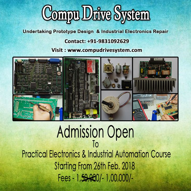 Technical Industrial Training From The Leaders. Eligibility B.Tech, BE, MCA, MSC IT, BCA, Diploma, 1 years course. For More Detail Visit www.compudrivesystem.com #electronics, #electronic circuit, #prototype design, #prototype development, #PCB design, #PCB Assembly, #embedded programming, #microcontroller,  #IoT, #medical equipment repair, #sensor, #industrial  #automation, #repairing, #industrial repair, #electronics training, #chip level repair, #arduino, #college project, #mechatronics