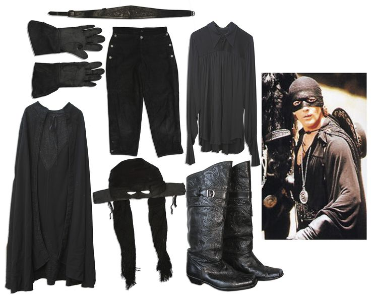 Mask of Zorro costume lot