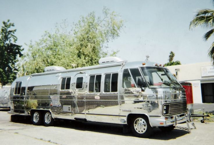 polished airstream 345 motorhome. This is the perfected version of the project we have. So freaking cool.