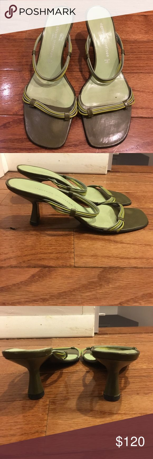 Sigerson Morrison green heels Only been worn a few times Sigerson Morrison Shoes Heels