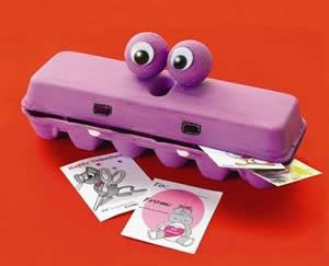 Egg carton hippo!