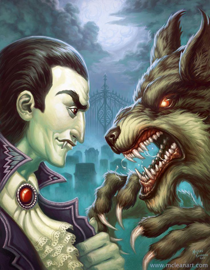 good vampire and werewolf books
