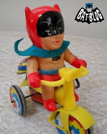 Japanese Batman on Tricycle. Wind up toy from 60s/Bat-Blog