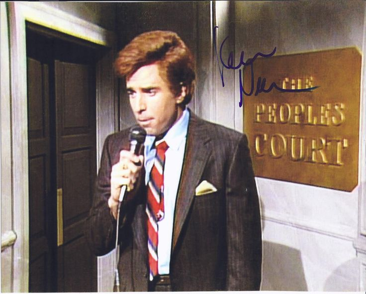 Kevin Nealon Autographed The Peoples Court SNL 8x10 Photograph, Proof Photo