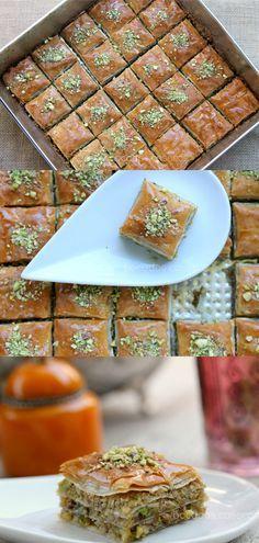 baklava, pastel turco, frutos secos, almíbar, canela, limón, almendra, nueces…