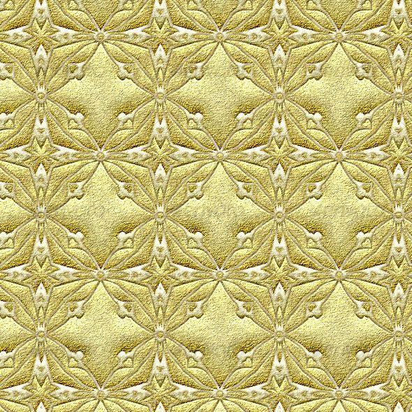 Golden Brocade Seamless Pattern