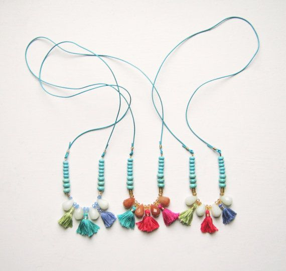 Color Tassel Necklace by MissCAlexandria on Etsy, $54.00