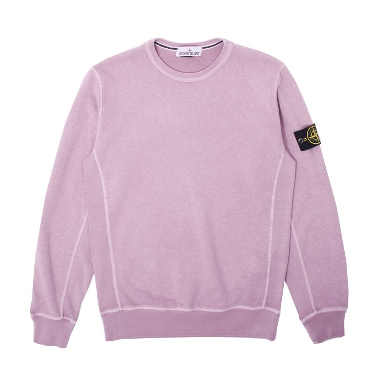 Classic premium brushed cotton Garment Dye Crewneck Sweatshirt from Stone Island. Essential.