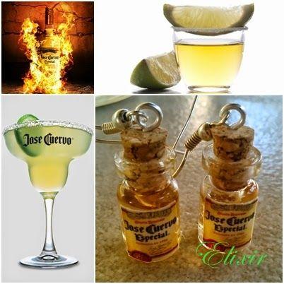 Elixir Crafts jose cuervo earrings