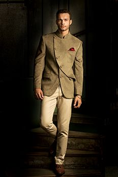 Love the Jodhpuri Suit from BenzerWorld!..amazing soothing color combination