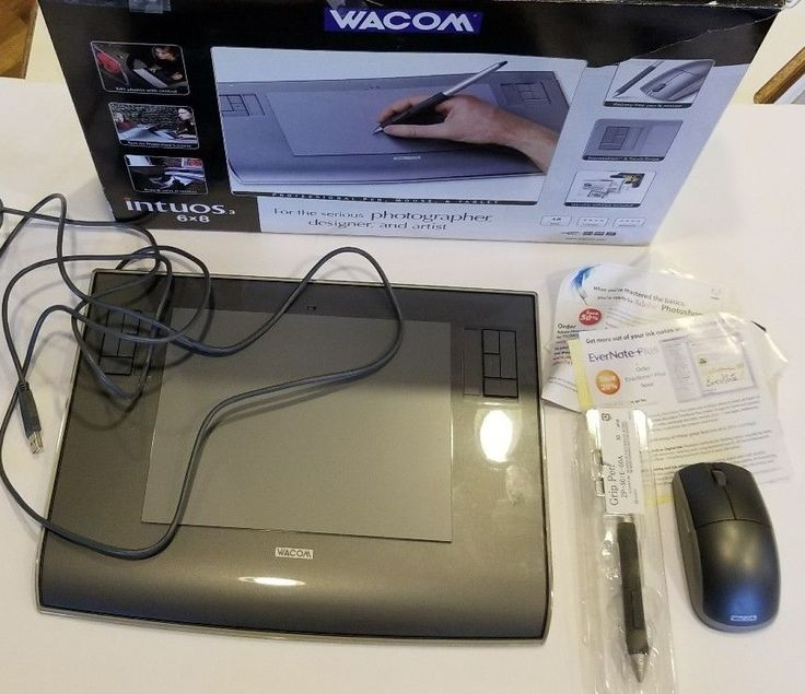 "Wacom Intuos 3 6""x8"" Graphics Tablet PTZ630 Mouse and Pen with Box PLEASE READ #Wacom"