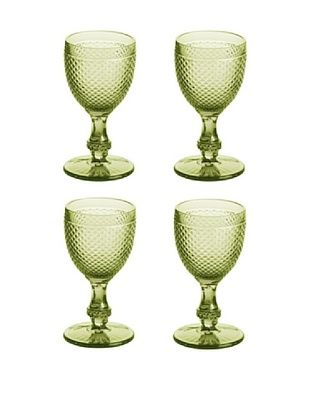 36% OFF Rosanna Set of 4 Pressed Glass 7-Oz. Goblets, Olive