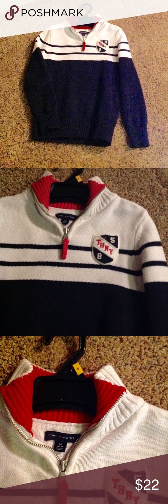 Sweater Sweater Tommy Hilfiger almost new! Size 6-7 Tommy Hilfiger Shirts & Tops Sweaters