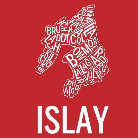 Islay i färgen negativ röd