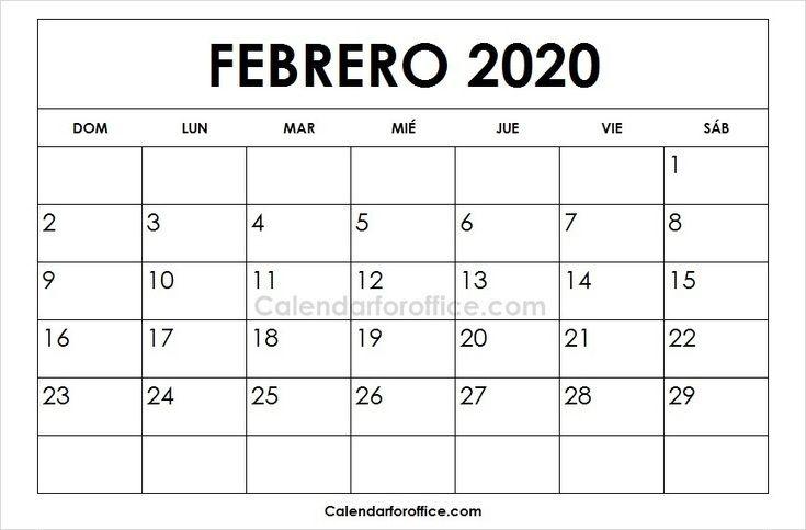 Febrero 2020 Calendario.Calendario 2020 Febrero 2020 Calendar June 2019 Calendar