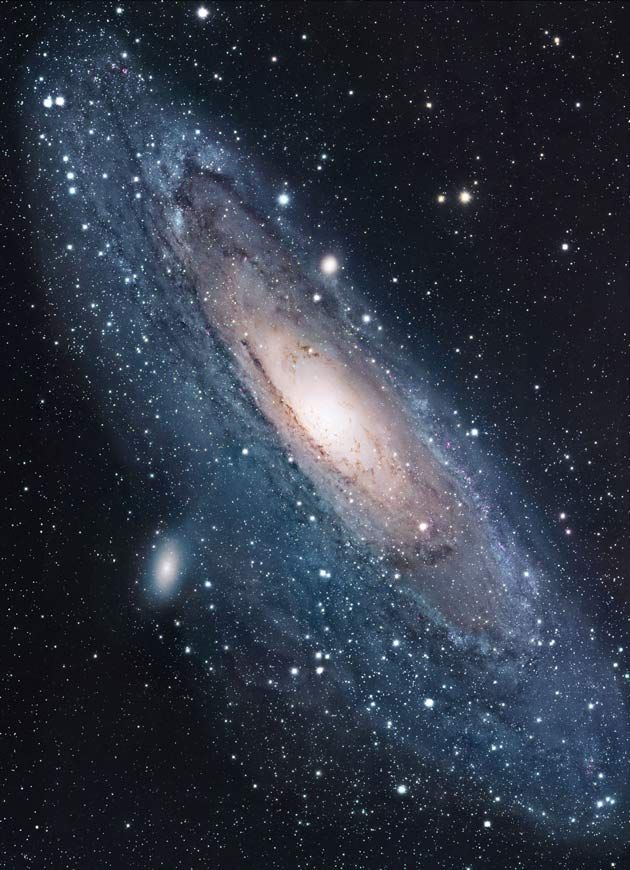 The Andromeda Galaxy photographed with a 12.5-inch telescope by amateur astronomer Robert Gendler.