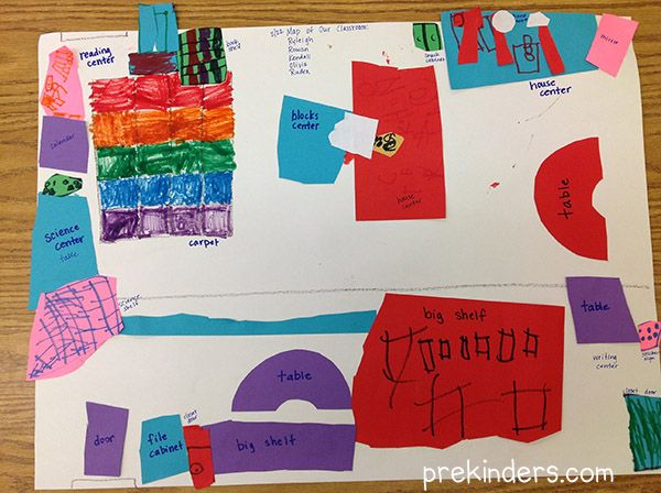 My class this year has been fascinated with maps. They love to look at the maps we have in the block center, and they often draw maps in the art center. Treasure maps, maps of their town, maps to show their bus route, maps from their house to their friends' house. One day for a …