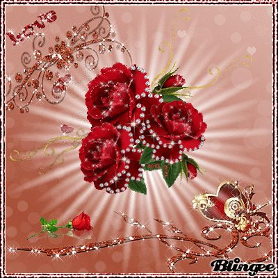 Cute Wallpapers Of Love Hearts Glitter Hearts Love Red Roses Red Roses In Motion Rose