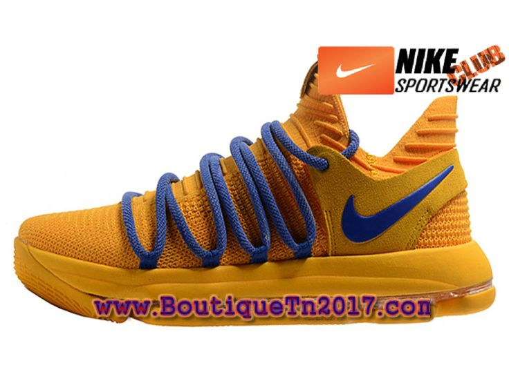 Nike Zoom KD 10 Chaussures Nike Basket Pas Cher Pour Homme Jaune