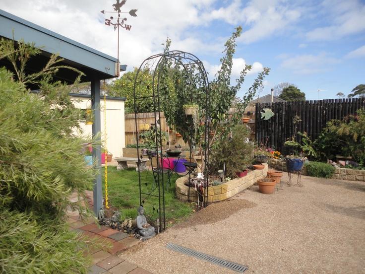 Arch into herb & vegi garden