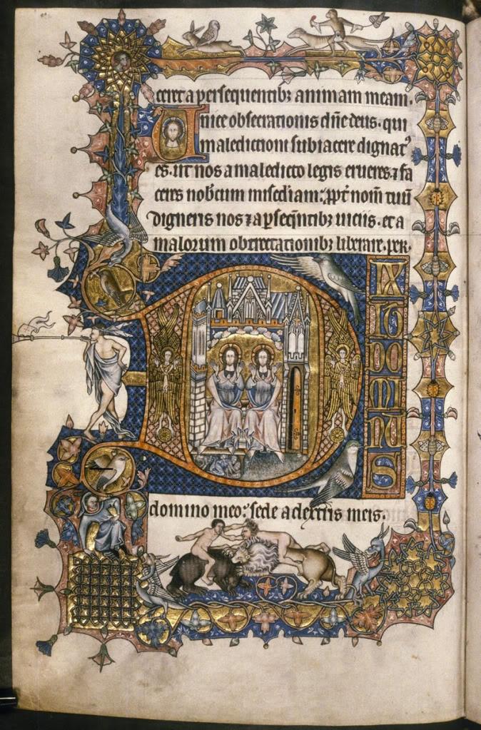 Medieval illuminated book.