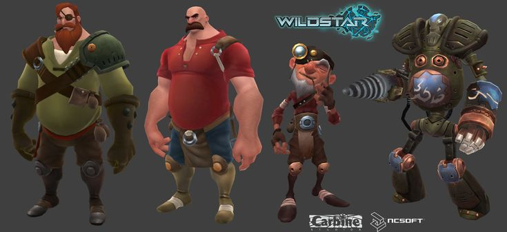 Wildstar NPCs and Bot, Roger Eberhart on ArtStation at http://www.artstation.com/artwork/wildstar-npcs-and-bot