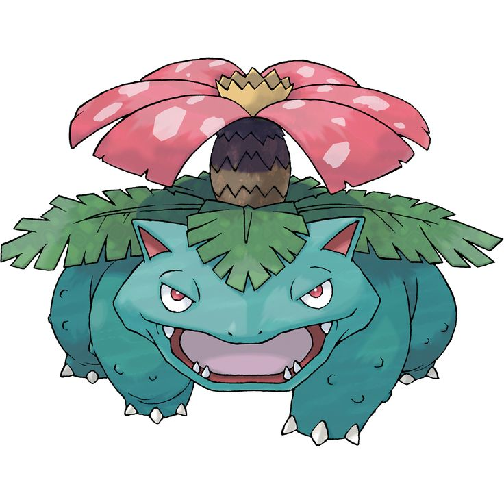 Venusaur - 003 - By spreading the broad petals of its flower and catching the sun's rays, it fills its body with power. After a rainy day, the flower on its back smells stronger. The scent attracts other Pokémon.  @PokeMasters.net
