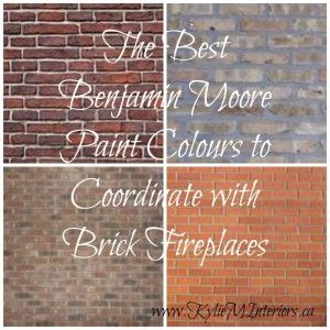 the best benjamin moore paint colours to coordinate with brick fireplaces for the walls, red, orange, gray and yellow brick