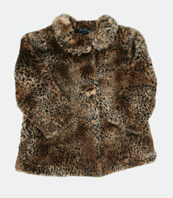 Girls vintage faux leopard swing coat. Age by PeachandLoveVintage, £35.00