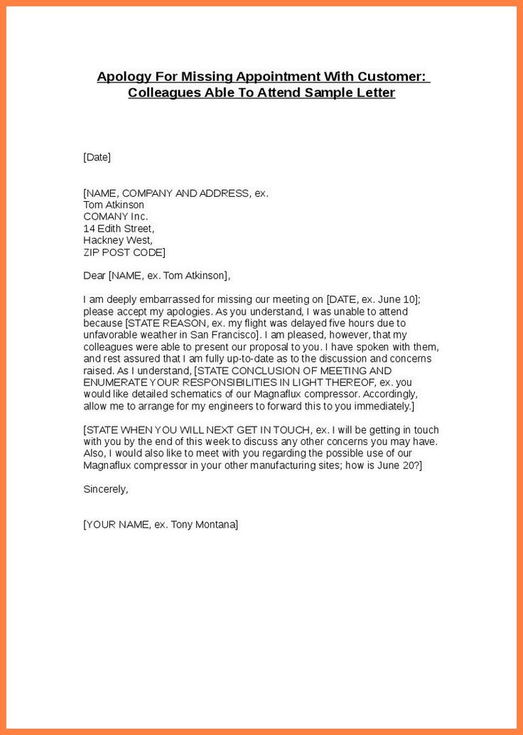 Example Of Apology Letter To Customer] Results From How To Write A ...