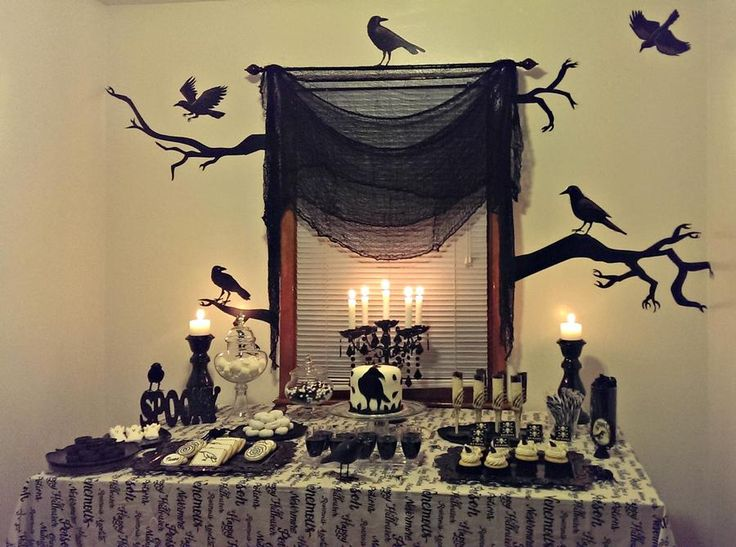 dessert table i created for our annual halloween party