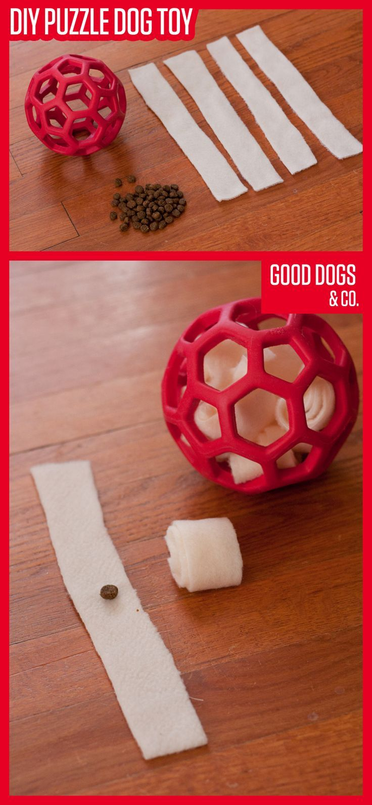 Make your dog a puzzle toy he can work on over and over again. This DIY dog toy only takes two materials, and it's easy to make!