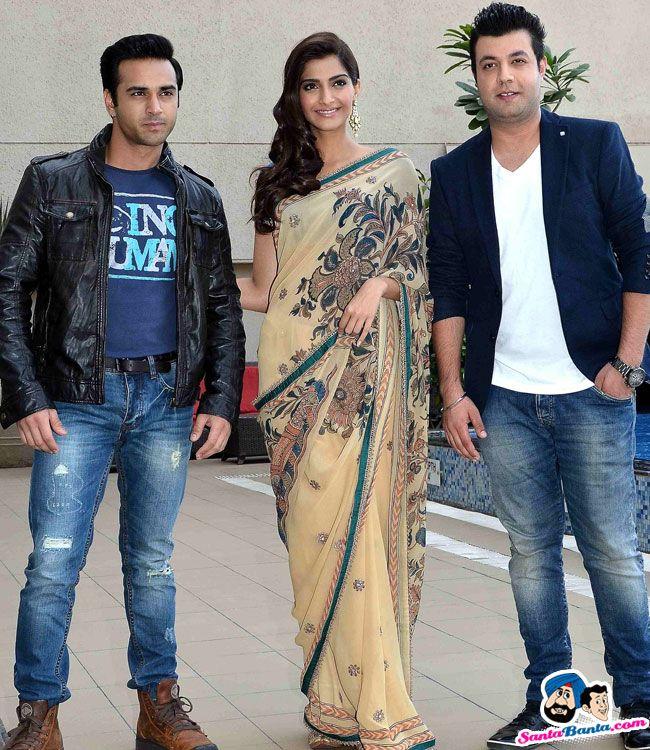 Sonam Kapoor Promotes Dolly Ki Doli -- Pulkit Samrat, Sonam Kapoor and Varun Sharma Picture # 294523