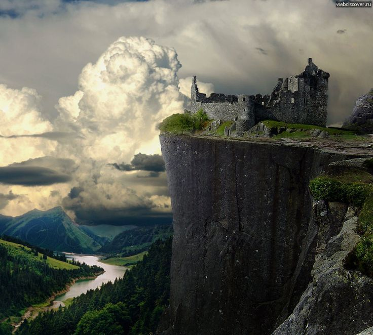 """Ruins of Castle """"Karlsburg - The ruins of the castle Сliff, Germany"""