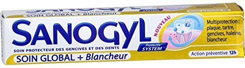 #Sanogyl Soin global + Blancheur helps to: - Fighting plaque through the combined action of zinc citrate and chlorhexidine fighting and remove plaque at the base...