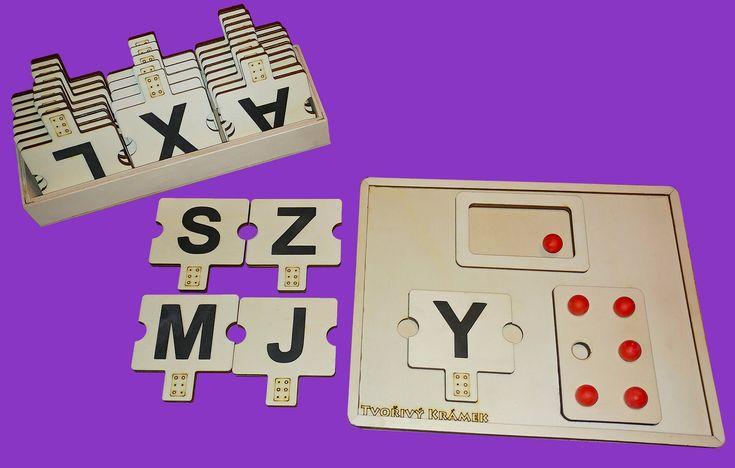 Učební panel Braillova abeceda CZ verze